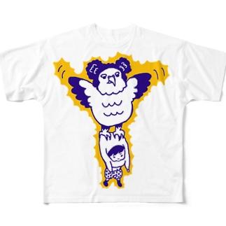 カンムリクマタカ Full graphic T-shirts