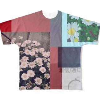 かすれた風景(レトロ) Full graphic T-shirts