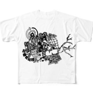 レイニーらくがき Full graphic T-shirts