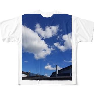 ふぁっショーン blue Full graphic T-shirts