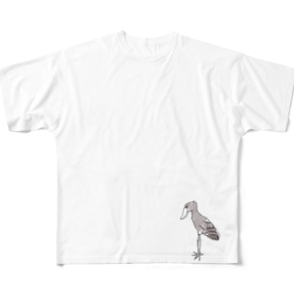 cao124のハシビロコウ Full graphic T-shirts