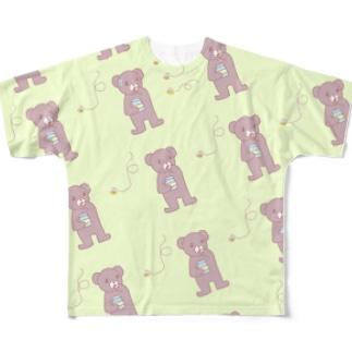クマとハチ Full graphic T-shirts