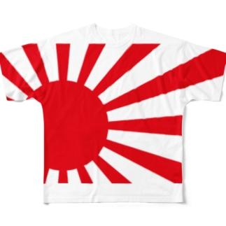 旭日旗風 Full graphic T-shirts