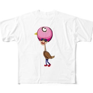 鳥人 Full graphic T-shirts