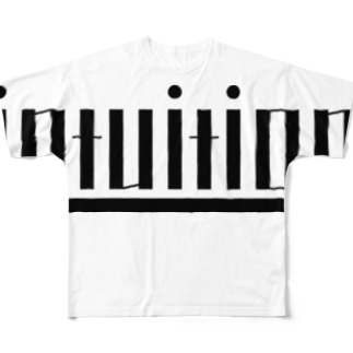 intuition(黒ロゴ) Full graphic T-shirts