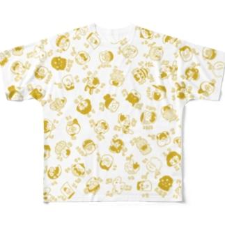 NICONICO_yellow Full graphic T-shirts
