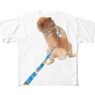 ねむくんおトイレ中 Full graphic T-shirts