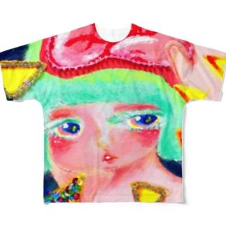 おやすみまどかちゃんのヘンヅツウ Full graphic T-shirts