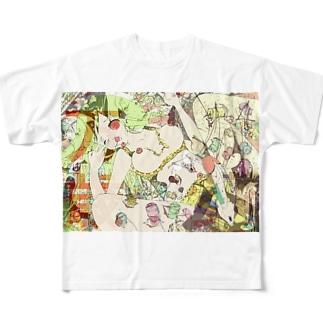 放蕩娘の売店のバンザイアタック 2017 Full graphic T-shirts