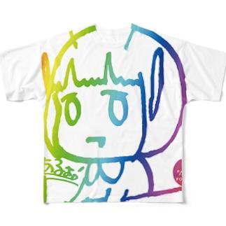 YASUKOイラスト Full graphic T-shirts