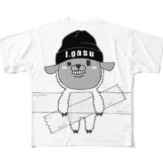 I.gasu sheep【アイガス】 Full graphic T-shirts