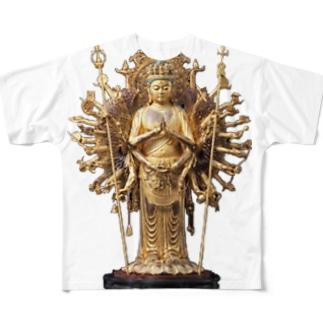 千手観音 Full graphic T-shirts