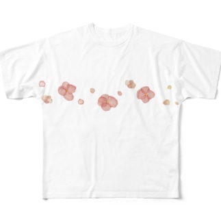 Wedding design Comfyのwater flower Full graphic T-shirts