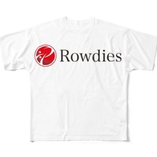 Rowdiesロゴグッズ Full graphic T-shirts