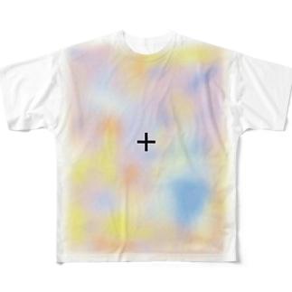 消える模様(Optical illusion) Full graphic T-shirts