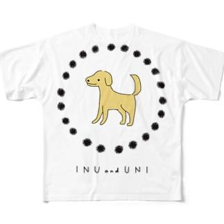 犬とうに Full graphic T-shirts