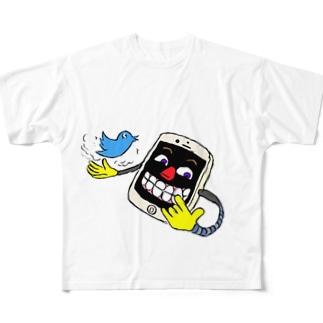 オリジモンのイェイphone Full graphic T-shirts