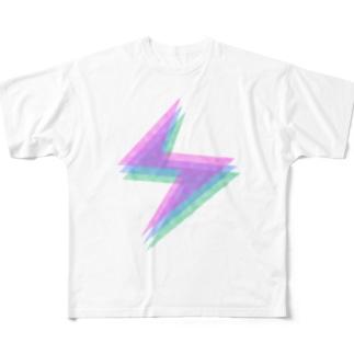 ヒボンのイカヅチ Full graphic T-shirts