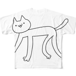 うまうまよかよかのぬぬこ Full graphic T-shirts
