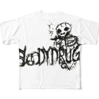 BAD ADDICT Full graphic T-shirts