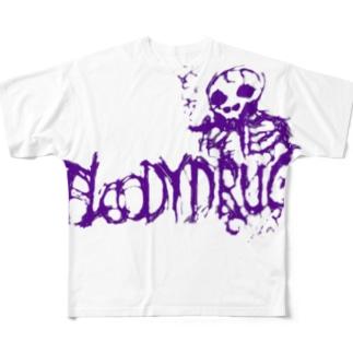ガイコツ先輩 Full graphic T-shirts