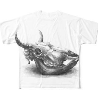 迫力のない牛骨 Full graphic T-shirts