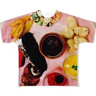 スイパラにて Full graphic T-shirts