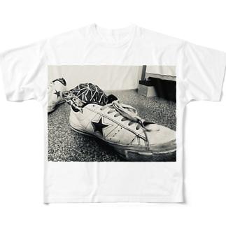 ホシガメスニーカー Full graphic T-shirts