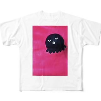 どっかで見たタコ Full graphic T-shirts