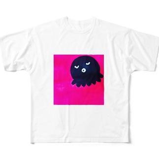 正方形タコ Full graphic T-shirts