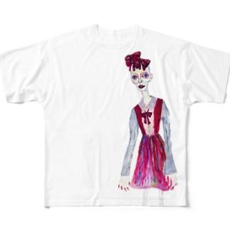 もろぞふたち Full graphic T-shirts