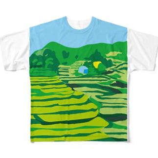 棚田 Full graphic T-shirts