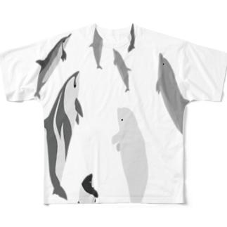 ドルフィンパラダイス Full graphic T-shirts