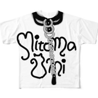 三苫のチョーカー風 Full graphic T-shirts