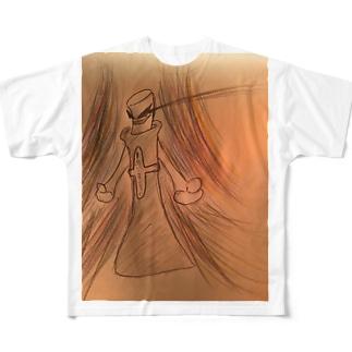アイコス黒 Full graphic T-shirts