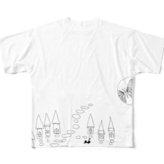 こちょうのゆめ Full graphic T-shirts