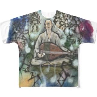 耳なし芳一 Full graphic T-shirts