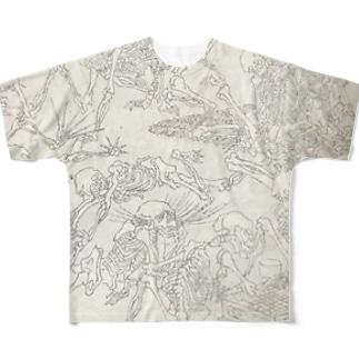 画鬼 Full graphic T-shirts