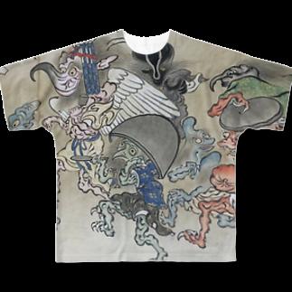 😄 SMILE  or Kill🗡の百鬼夜行 Full graphic T-shirts