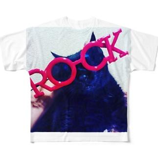 ロックキャット Full graphic T-shirts