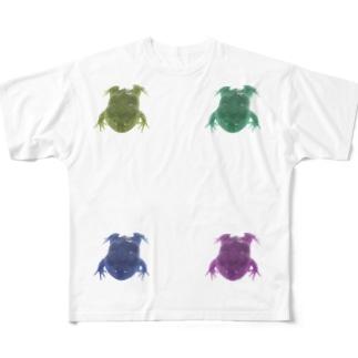 ポップにリアルなざぶとん Full graphic T-shirts