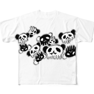 モノクロ〜ムでろぱん Full graphic T-shirts