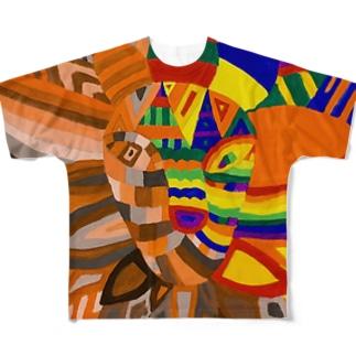 ラインボー Full graphic T-shirts