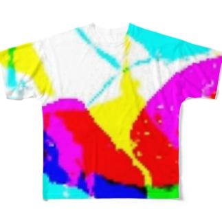 絵の具ぶちまけた Full graphic T-shirts