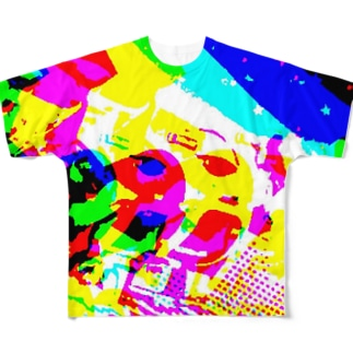 マーブル Full graphic T-shirts
