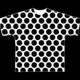 めぐみさらしの水玉 黒(大) Full graphic T-shirts