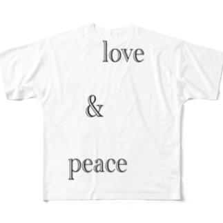 人類を平和にするセリフ② Full graphic T-shirts