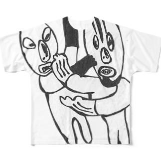 Nice!プロレス! Full graphic T-shirts