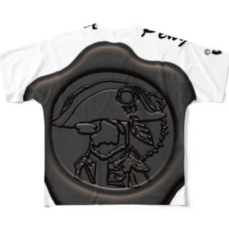ナポペン【平等の灰】 Full graphic T-shirts