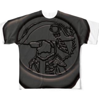 ナポペン【平等の灰】黙秘 Full graphic T-shirts